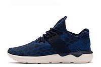 Мужские кроссовки Adidas Tubular Runner Primeknit Blue