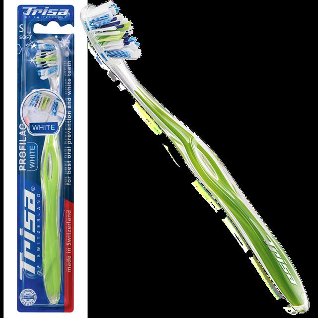 Зубная щетка TRISA PROFILAC WHITE мягкая Швейцария TP0017