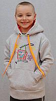 Толстовка для мальчика серая, фото 1