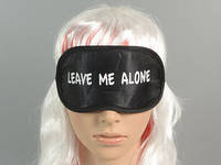 "Маска  для сна / ""Leave me alone"" / Черный 20x10 см"