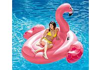 Надувной плотик Мега Фламинго с ручками 56288: размер 218х211х136см