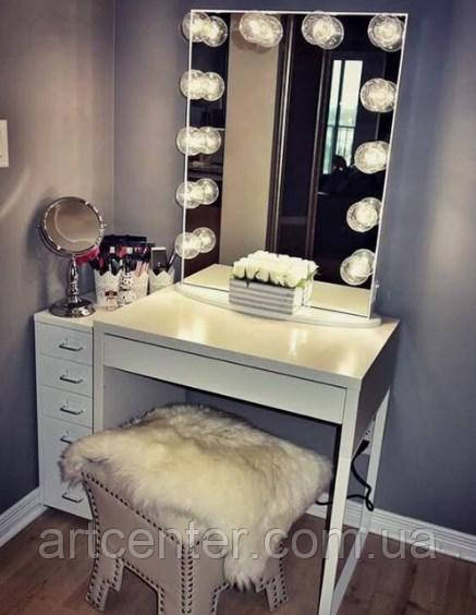 Стіл з дзеркалом для візажиста, туалетний столик, стіл визажный