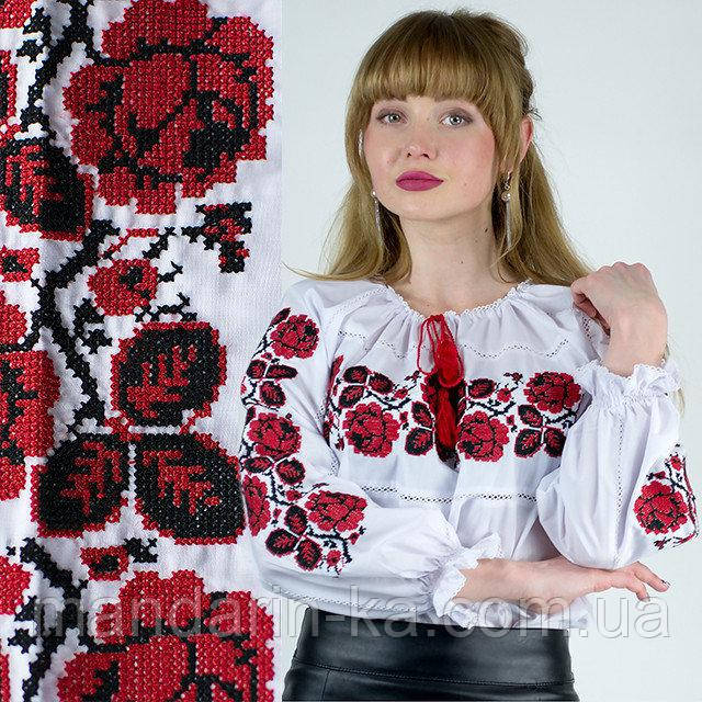 Рубашка вышиванка Шиповник