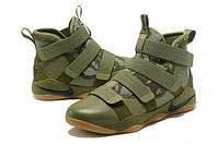 Баскетбольные кроссовки Nike Lebron Solder 11 (хаки)