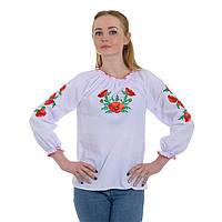 Женская вышиванка белая Маковая роса , фото 1