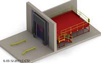 Пандус перегрузочный 6т с платформой уравнительной 2х2м и герметизатором проема 3.4х4.4м