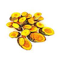Набор спилов (срезов) косых ассорти жёлтых 100шт (20-35мм)