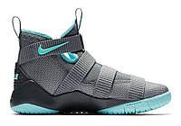 Баскетбольные кроссовки Nike Lebron Solder 11 (серый/бирюзовый)
