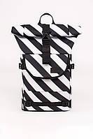 Рюкзак Urban Planet ролтоп Rolltop B4 DIA 35л. 60х25х14 см.чорно-білий роллтоп