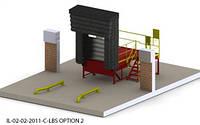 Пандус перегрузочный 6т с платформой уравнительной 2х2м и Герметизатором проема надувным 3х3м
