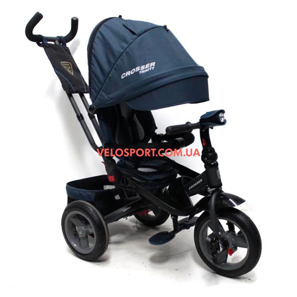 Детский трехколесный велосипед Crosser T-400 ECO TRINITY Air синий