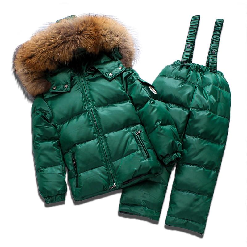 Детский зимний комплект Sabbi зеленый с мерцанием