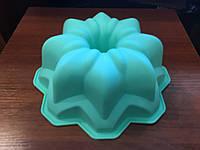 Силиконовая форма для кекса средняя 24 см