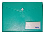 Папка-конверт A-5, 1707T матовая, плотная, кнопка, 22х17см, фото 5