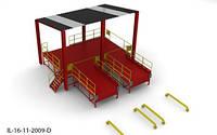 Пандус перегрузочный 6т с 2 платформами уравнительными 2х2м и навесом