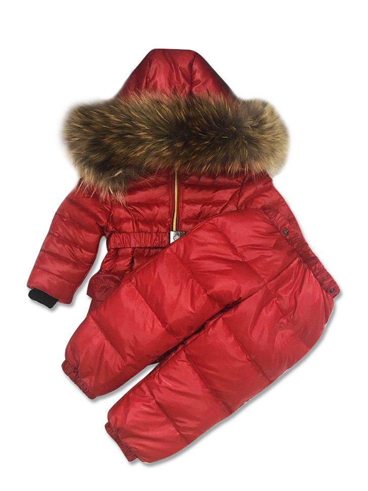 Штаны и курточка детские зимние Sabbi красные