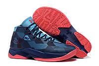 Баскетбольные кроссовки Under Armour CURRY 2.5 (синий/коралловый)