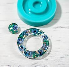 Силиконовый молд  на кольцо и линзу для подвесок, серег, браслета 34мм