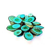 Набор спилов (срезов) косых ассорти синих 100шт (20-35мм)