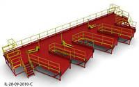 Пандус перегрузочный 6т для 4 полуприцепов с 4 платформами уравнительными 2х2.5м