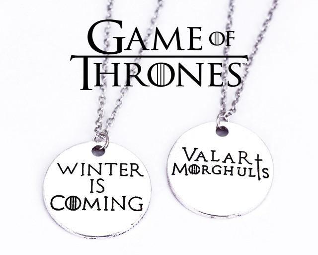 Кулоны Winter is Coming Valar Morghulis Игра Престолов Game of Thrones