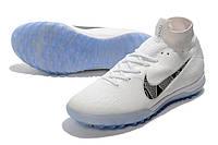 Футбольные сороконожки Nike SuperflyX VI Elite TF White/Metallic Cool Grey, фото 1