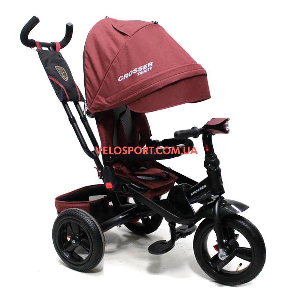 Детский трехколесный велосипед Crosser T-400 ECO TRINITY Air тарракатовый