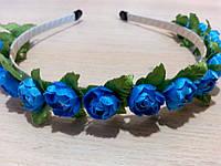 Веночек Синяя роза (0057)