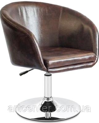 Крісло для майстра, крісло перукарське (МУРАТ НЬЮ коричневий), на пневматиці