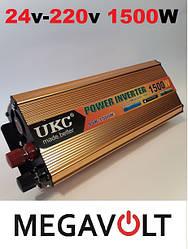 Инвертор 24V-220V 1500W UKC
