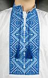 Вышиванка мужская с синим орнаментом , фото 3