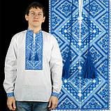 Вышиванка мужская с синим орнаментом , фото 6