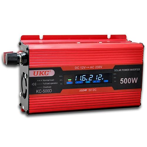 Преобразователь напряжения 12v-220v 500W с дисплеем UKC