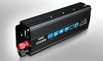 Перетворювач напруги 12v-220v 2000W UKC