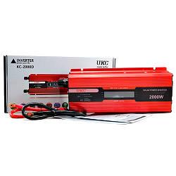 Преобразователь напряжения 12v-220v 2000w c LCD-дисплеем UKC