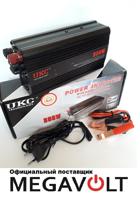 Преобразователь напряжения 12v-220v 800w UPS UKC
