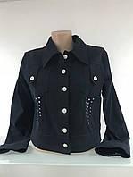 Куртка женская джинсовая габардиновая черная