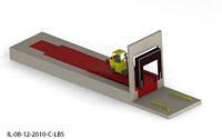 Эстакада 4м 6т для погрузчика с платформой уравнительной 1.8х2м и герметизатором проема 3х3м