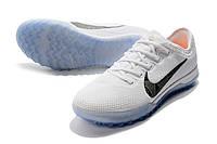 Футбольные сороконожки Nike Mercurial VaporX XII Pro TF White/Metallic Cool Grey/Total Orange, фото 1