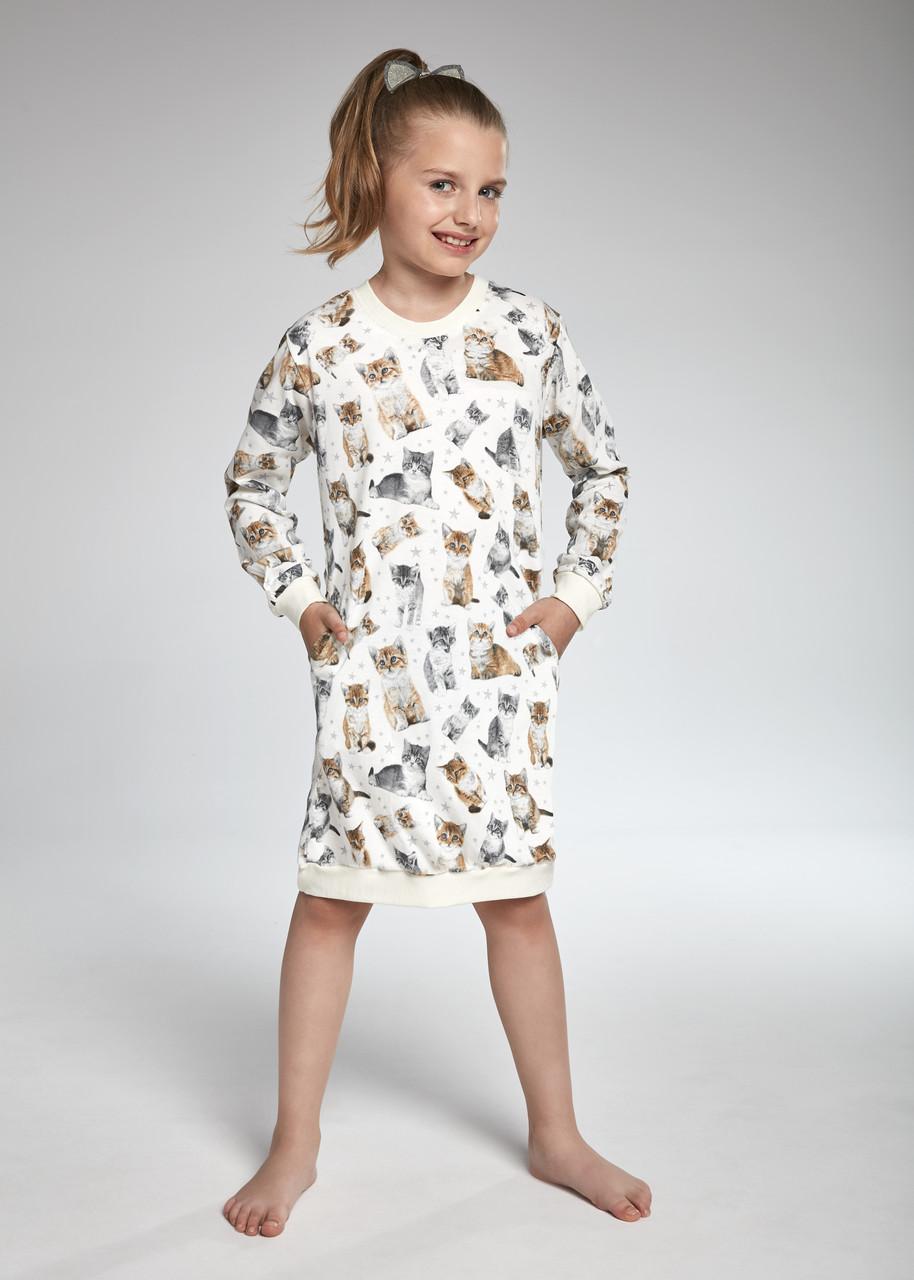 Хлопковая сорочка для девочки96-128. Польша. Cornette 942/105 LOVELY CATS 4