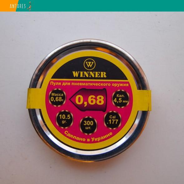 Пневматические пули Winner остроголовые 4.5 мм, 0,68 г, 300 штук