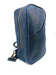 Мужская стильная сумка VS005  Crazy horse blue 26х16х8 см, фото 3