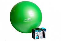 Мяч гимнастический+насос 75 см/4001/ САЛАТОВЫЙ