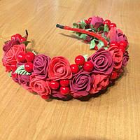 Веночек на голову Красный сад (70072)