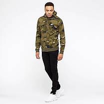 Толстовка Nike Sportswear Club Fleece Men's Full-Zip Camo Hoodie AQ0596-325 (Оригинал) , фото 3