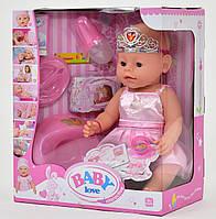 Пупс аналог Baby Love з аксесуарами, 8 функцій. Пупсик, лялька подарунок для дівчинки