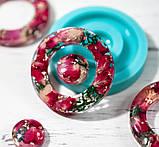 Силиконовый молд  на кольцо и линзу для подвесок, серег, браслета 39мм, фото 4