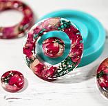 Силиконовый молд  на кольцо и линзу для подвесок, серег, браслета 39мм, фото 5