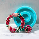 Силиконовый молд  на кольцо и линзу для подвесок, серег, браслета 39мм, фото 8