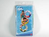 Круг надувной  детский / 36014 / Цветной 61x61x17 см